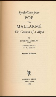 Cover of: Symbolisme from Poe to Mallarmé