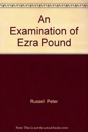 Cover of: An examination of Ezra Pound | Russell, Peter
