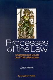Cover of: Processes of the Law | Judith Resnik