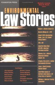 Cover of: Environmental law stories |