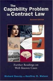 Cover of: The capability problem in contract law