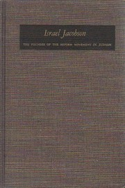 Cover of: Israel Jacobson