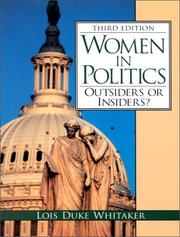 Cover of: Women in politics |