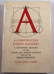 Cover of: A constructed Roman alphabet