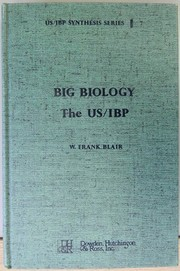Cover of: Big biology | W. Frank Blair