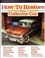 Cover of: How to restore your collector car