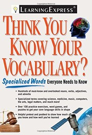Cover of: Think you know your vocabulary?. |