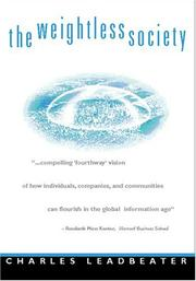 Cover of: The weightless society