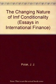 Cover of: The changing nature of IMF conditionality