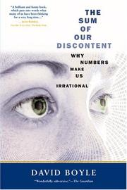 Cover of: The sum of our discontent | Boyle, David