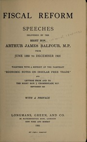Cover of: Fiscal reform | Arthur James Balfour