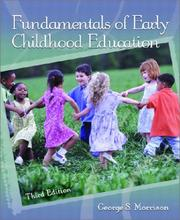 Cover of: Fundamentals of early childhood education