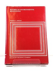 Cover of: Reform of environmental regulation |