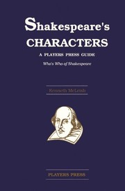 Cover of: Shakespeare's characters: a Players Press guide : who's who of Shakespeare