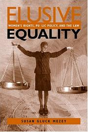 Cover of: Elusive Equality: Women's Rights, Public Policy, and the Law