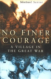 Cover of: No finer courage | Michael Senior