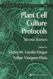 Cover of: Plant Cell Culture Protocols (Methods in Molecular Biology) |