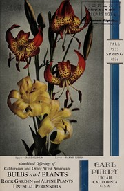 Cover of: Bulbs and plants, rock garden-alpine plants, unusual perennials