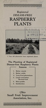 Cover of: Registered disease-free raspberry plants | Ohio Small Fruit Improvement Association, Inc