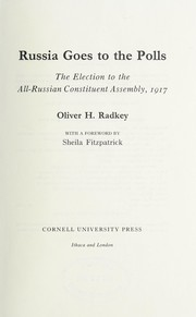 Cover of: Russia goes to the polls | Oliver H. Radkey