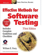Cover of: Effective Methods for Software Testing