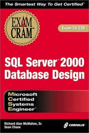 Cover of: MCSE SQL Server 2000 Database Design Exam Cram (Exam: 70-229) | Sean Chase