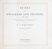 Cover of: An era of progress and promise, 1863-1910 | W. N. Hartshorn