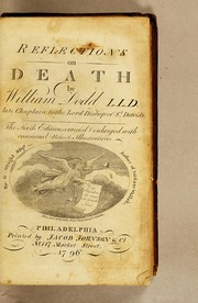 Cover of: Reflections on death | William Dodd