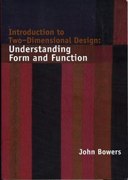 Cover of: Introduction to Two-Dimensional Design | John Bowers
