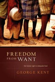 Cover of: Freedom from Want | George, Kent