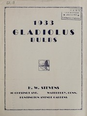Cover of: 1933 gladiolus bulbs | H.W. Stevens (Firm)
