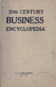 Cover of: 20th century business encyclopedia. |