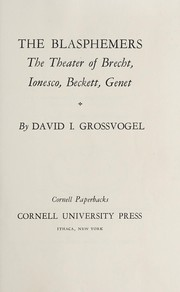 Cover of: Four playwrights and a postscript: Brecht, Ionesco, Beckett, Genet