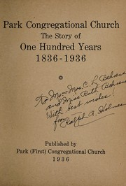 Cover of: Park Congregational Church | Kinsey, W. H. Mrs
