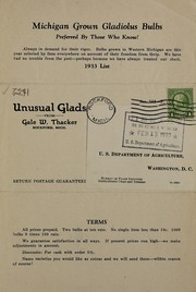 Cover of: Unusual glads from Gale W. Thacker | Gale W. Thacker (Firm)