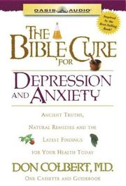 Cover of: The Bible Cure for Depression and Anxiety (Bible Cure