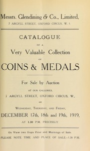 Cover of: Catalogue of a very valuable collection of coins & medals, including an important series of pattern and proof specimens of the British coinage, [etc.] ... | Feuardent FrГЁres