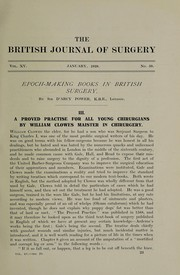 Cover of: Epoch-making books in British surgery | Power, D