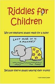 Cover of: Riddles For Children