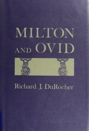 Cover of: Milton and Ovid | Richard J. DuRocher