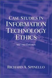 Cover of: Case Studies in Information Technology Ethics