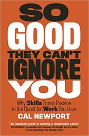 Cover of: So Good They Can't Ignore You |