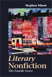 Cover of: Literary nonfiction | Stephen Minot