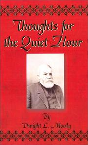 Cover of: Thoughts for the quiet hour