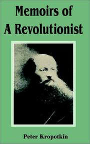 Cover of: Memoirs of a Revolutionist