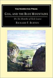 Cover of: Goa, and the Blue Mountains