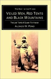 Cover of: Veiled Men, Red Tents, and Black Mountains | Alonzo William Pond
