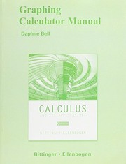 Cover of: Graphing Calculator Manual for Calculus and Its Applications