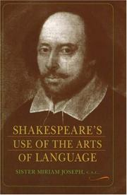 Cover of: Shakespeare's use of the arts of language