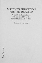 Cover of: Access to education for the disabled | Salome M. Heyward